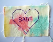 babe embroidered tie dye patch