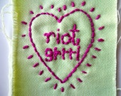 riot grrrl embroidered patch