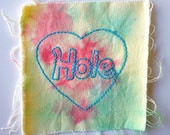 hole embroidered tie dye patch