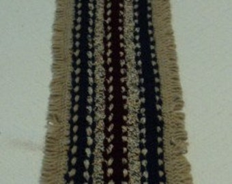 hairpin lace crocheted table runner
