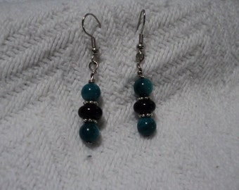Blue accent earrings