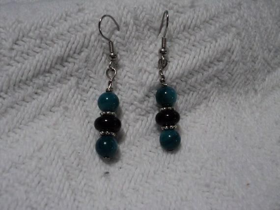 Blue accent earrings