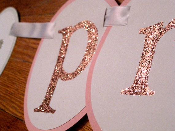 PRINCE or PRINCESS - Custom Gender Reveal Glitter Banner.  Use for Gender Reveal Baby Showers and Parties -- Customize to your needs.
