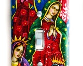 Virgen De Guadalupe Virgin Mary Single Toggle Switch Plate, wall decor