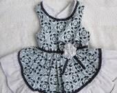 Small.  Pretty Little Paws - Light Blue Dog Dress