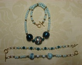 Necklace with 2 matching bracelets
