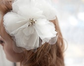 Ivory Silk Organza Flower - annamainsdesigns