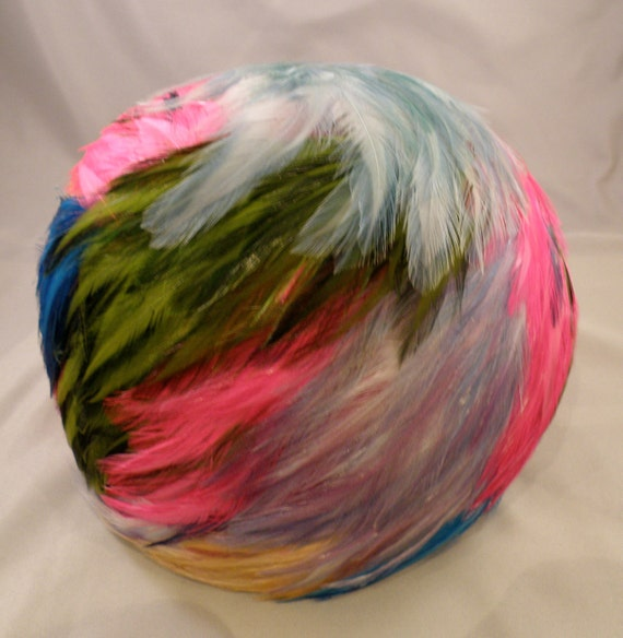 Christian Dior Multi-Colored Feather Hat