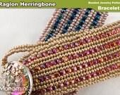 Bracelet Beading Pattern PDF - Raglon Herringbone