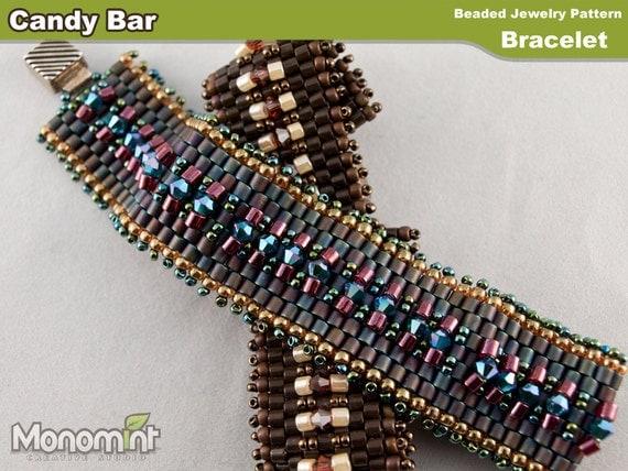 Bracelet Beading Pattern PDF - Candy Bar