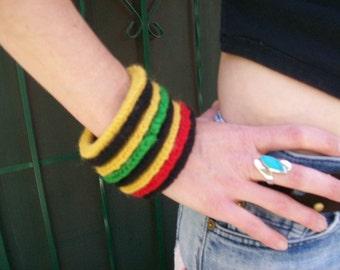 50% Off Upcycled Bracelets Urban Hippie Reggae Crocheted Bracelets Sew Loca Style Hand Made Crochet Bracelet