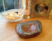 Thick Vintage Agate Dish