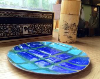 Sale - Vintage Geometric Enamel Dish