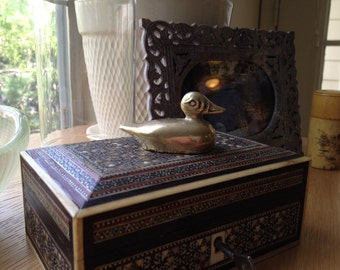 SALE - Vintage Solid Brass Duck