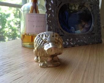 SALE - Vintage Solid Brass Lion