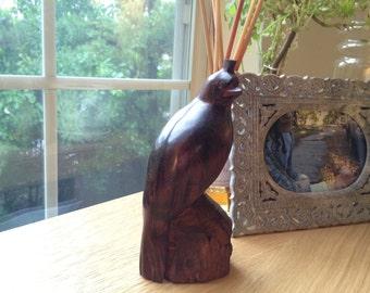Vintage Hand Carved Wood Pheasant