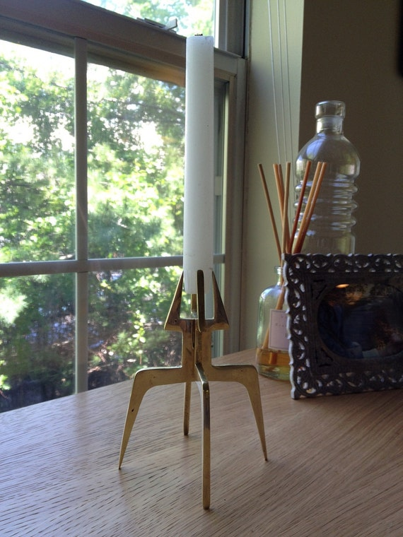 Vintage Sleek Brutalist Candlestick