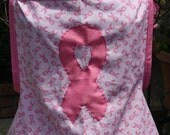 "The ""Survivor"" breast cancer awareness apron."