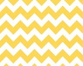 CLEARANCE- BY the YARD- Riley Blake Chevron in Yellow