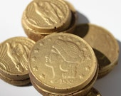 Gold Coin/Doubloon Chocolate Cookies - 3 Dozen Cookies