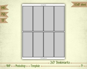 Bookmarks - Digital Collage Sheet Layered Template - (T019)