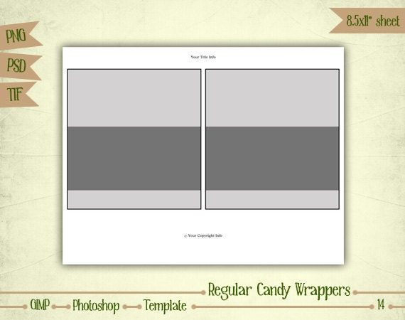 candy bar wrappers digital collage sheet layered template