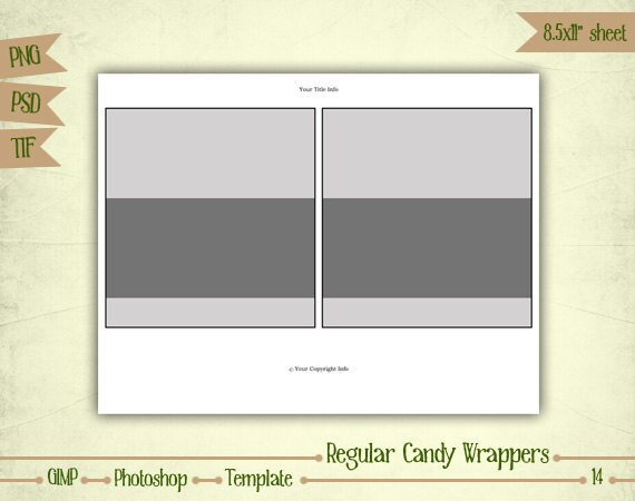 Hershey Bar Wrapper Template  OutOfDarkness
