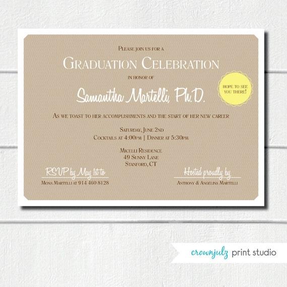 Diploma Graduation Invitation (Custom DIY Digital File)