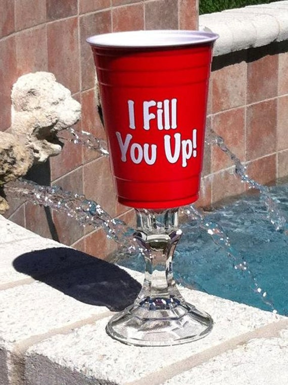 Items Similar To Red Solo Cup Wine Glasses On Etsy