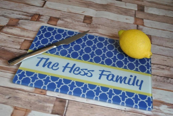 Personalized Glass Cutting Boards, hostess gift, wedding gift