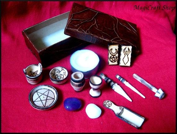Altar Set Mini Wicca Pagan Pocket Portable By Magicraftshop