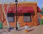 "SALE Original oil painting impressionism  plein air ""Corner Boutique"", 8 x 10"