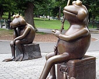 Fishing Frogs, 5 x 7