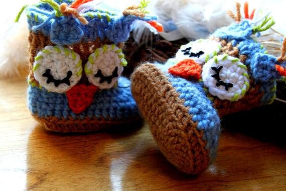 Crochet Owl Baby Booties Pattern : Crochet Baby Owl Booties Weddings & things Pinterest