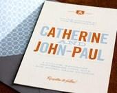 Catherine & John-Paul Wedding Invitations