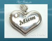 Mother's Day Gift - Clip on Charms - Mum Heart Charm