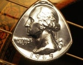 ANY YEAR Quarter Coin Guitar Pick | 1965-2017 | Birthday, Anniversary, Graduation, Christmas - The perfect personalized Men's & Women's gift