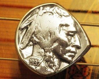 Antique Coin Guitar Pick & Mandolin Pick | USA Indian Head Buffalo Nickel | Made in Nashville | Free Worldwide Shipping