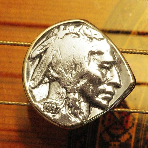 Antique Coin Guitar Pick & Mandolin Pick | USA Indian Head Buffalo Nickel | Made in Nashville | Free Worldwide Shipping