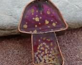 Mushroom - Copper & Resin Pendant