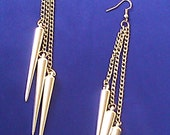 SOLD - Silver Earrings - Spikes and Chains