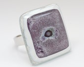 Glass Fused Ring Reverse PaQ - Glass Fused Jewelry