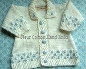 Hand Knitted Baby Cardigan - Newborn Size