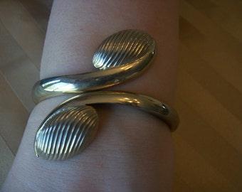 SALE Rare Vintage ESTATE SALE Volupte Egyptian Revival Clamper Bracelet, Cleopatra Statement Bracelet
