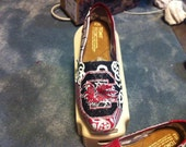 Handpainted customized South Carolina Fighting Gamecock Toms