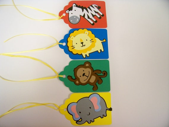 Zoo Animal Party Favor Tags