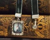 5 pk Custom Bookmark on Velvet Ribbon Frame or Mini Book
