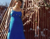 vintage Blue Dress - early 90's / LIZ JORDAN /evening dress/ wedding dress /prom dress/ formal dress/ AUST sz 12/ Made in Australia