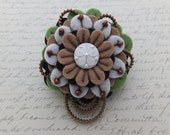 Flower Felt Zipper Brooch (For Coat, Jacket, Hat)