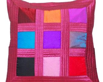 pink throw pillow colorful throw pillow pillow decorative cushion block throw pillow fuchsia gift
